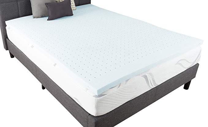 Bluestone 82-TEX1029 Memory Foam Mattress, Twin XL, White